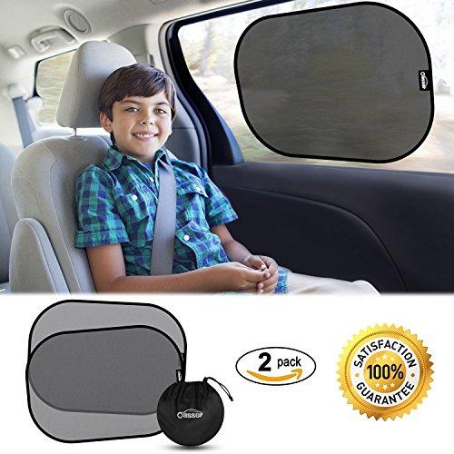 Oasser 2pcs Auto Sonnenschutz Sonnenblende mit Statischer Elektrizität für Seitenfenster Schutz vor UV-Strahlen (XL) …