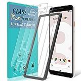 TAURI [3 Stück Schutzfolie für Google Pixel 3 Panzerglas, [Alignment Frame] [Einfache Installation][Lebenslanger Ersatz Garantie], Panzerglasfolie HD Klar Glas Bildschirmschutzfolie für Pixel 3