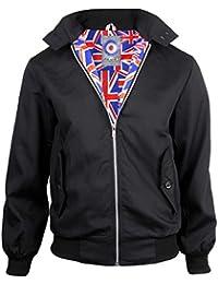 Mens Classic Harrington Mod Coat Indie Scooter Jacket Union Jack Lining