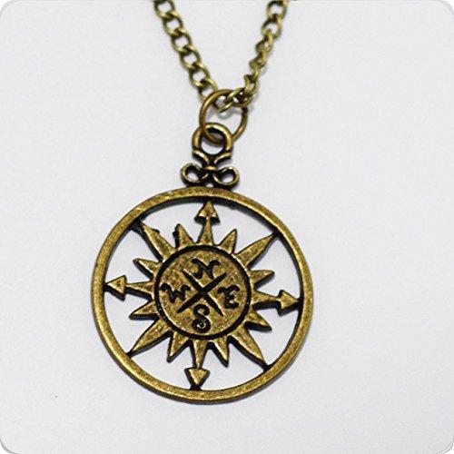 lskette, Silber Kompass-Halskette, Silber Halskette, Halskette Charme, nautisches Halskette, Strand Halskette (Nautische Halskette)