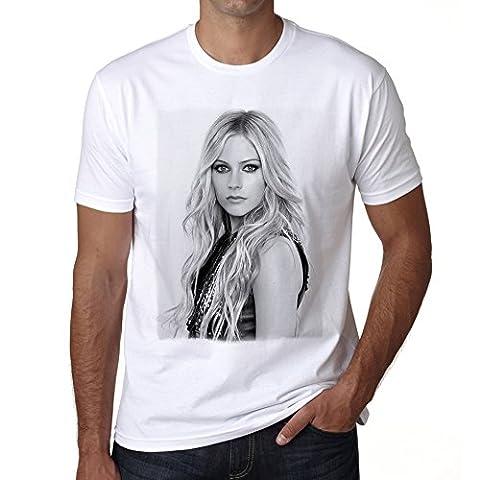 Avril Lavigne T-shirt,cadeau,Homme,Blanc, XXXL,t shirt