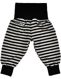 """'""""Basic Pantalon bouffant, noir/gris à rayures"""