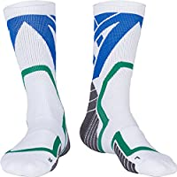 Professional Basketball Socks Deodorize and Anti-bacterial Comfortable Sports Socks Size 10-13 White