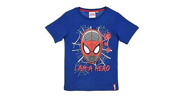 085afc67 Marvel Spiderman - T-Shirt Cotone Bluette (3 Anni): Amazon.it: Sport e  tempo libero