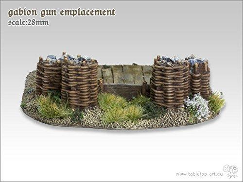 Gabionen Geschützstellung