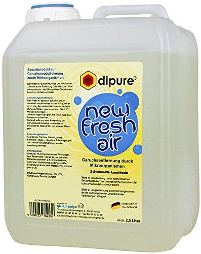 New Fresh Air Geruchsentferner mit Mikroorganismen 2,5 Liter Kanister (Geruchsneutralisierer gegen Rauchgeruch, Nikotingeruch, Modergeruch uvm.)
