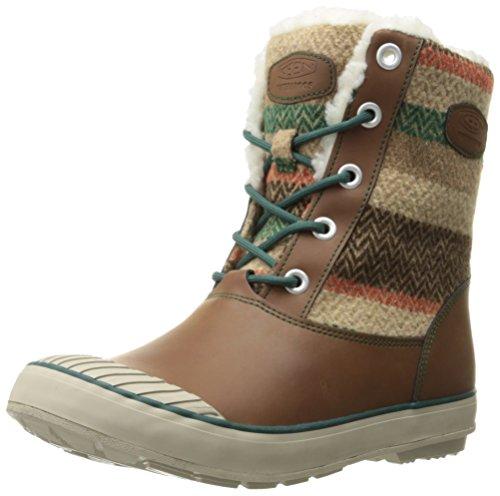 Keen Damenschuhe ELSA BOOT WP W 1015457 Damen Trekkingschuhe, Wanderstiefel, Stiefel, Boots WOOL STRIPED