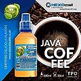 E LIQUID PARA VAPEAR - 30ml Java Coffee (Café Java - Negro) Shake and Vape E Liquido para Cigarrillo Electronico, Shake n Vape Eliquido sin Nicotina