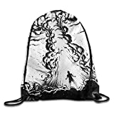 Etryrt Prime Sacs à Cordon,Sac à Dos, Explosion Drawstring Backpack Rucksack Shoulder Bags Training Gym Sack for Man and Women