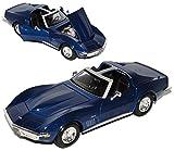 Maisto Chevrolet Chevy Corvette 1970 Stingray C3 C 3 Blau 1/24 Modellauto Modell Auto