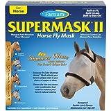 Farnam Companies Inc 100503737 Argent / Noir Supermask 2 Cr W / O oreilles Cheval