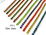 #9: Stone chain all super bright gliterring colours combo 10 colours for jewelry making/crafts