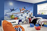 Kindertapete Fototapete PLANES ABOVE THE CLOUDS 368x254, Disney lustige Flugzeuge, Flugzeugrennen