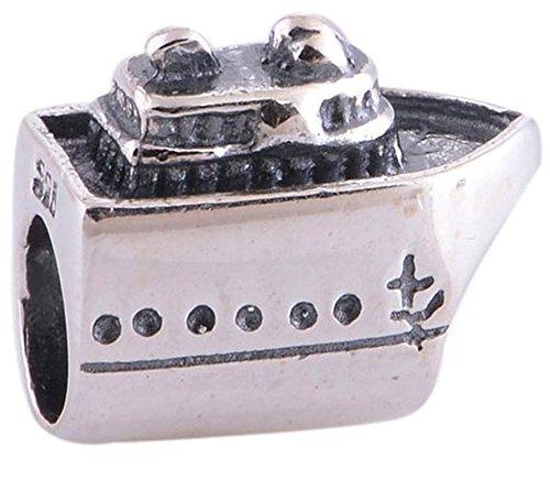 Everbling nave da crociera-ciondolo in argento sterling 925 per pandora per braccialetti europei