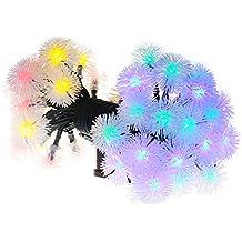 VicTsing Stringa di Luci Solari in Forma di Sfera, Stringa LED di Multicolore, 23 passi e 50 singoli LED, Decorativa da Interni e Esterni, per Decorazioni di Festa, Natale, Matrimonio, Decorativo per Giardino, Casa, Patio, Prato