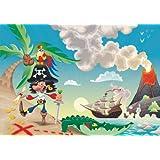 AG Design FTxxl 0155  Pirat, Papier Fototapete - 360x255 cm - 4 teile, Papier, multicolor, 0,1 x 360 x 255 cm
