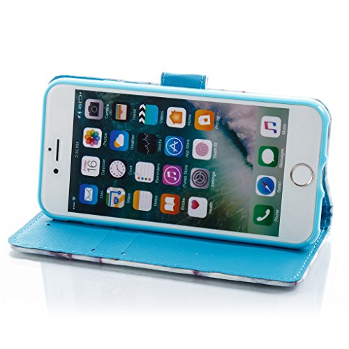 Apple iPhone 7 / iPhone 8 Hülle, SATURCASE Einzigartig 3D Stein Muster PU Lederhülle Ledertasche Magnetverschluss Flip Cover Brieftasche Case Handy Tasche Schutzhülle Handyhülle Hülle mit Standfunktio Muster-2