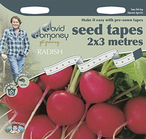 Mr Fothergills Gemüse David domoney Tape Radieschen Cherry Belle Saatband