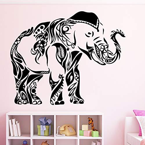 Abnehmbare Elefanten Wandaufkleber PVC Wandkunst Aufkleber Moderne Mode Wandsticker Für Kinderzimmer Wohnkultur Wanddekoration Wandbild Rot XL 58 cm X 72 cm