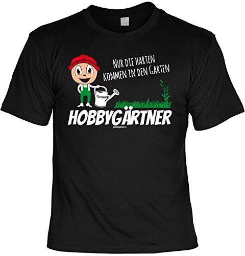Witziges Sprüche T-Shirt Gärtner : Hobbygärtner Nur die harten kommen in den Garten -- Arbeitskleidung Gärtner / Garten Zubehör Gr: XL