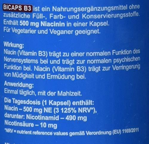 Formeds BICAPS B3 Niacin (B3) – 500 mg NE (3 125%), 60 Kapseln