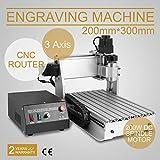 FurMune CNC Fräsmaschine Fräs Graviergerät CNC Router Machine Engraver Machine 3020T 3 Achsigen Einfache Installation Aus Aluminiumlegierung (3020T 3 Achsigen)