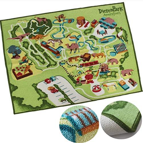 JYY Kinderteppich und Krabbeln Gamepad Große Spielmatte Thick Anti Skid zum Spielen mit Autos und Spielzeug - fördert den pädagogischen und fantasievollen Spaß