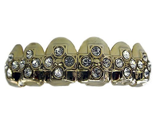 Best Grillz Top Fila Croce Di Ice Hip Hop Bling-bling Placcati Oro Grillz