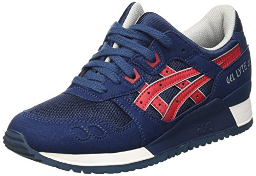 Asics Gel-Lyte Iii, Baskets Basses Mixte Adulte Bleu (Indian Ink/Tango Red 5025)