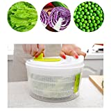 ulofpc Salade Séchoir Légumes Fruits Vider le panier Déshydrateur Secouer Le Panier D'eau Multifonction Cuisine Mix Essoreuse à Salade et Légumes Grande Capacité
