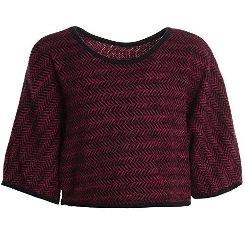 ck Poncho Stola Pullover Rundhals Hoodie Kinder Winter 20784 Pink Größe 140 ()