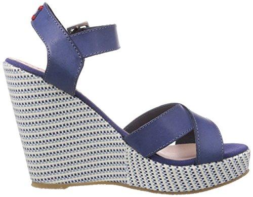 Pepe Jeans London Walker Textil, Plateau femme Bleu - Blau (575NAVAL BLUE)