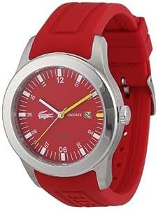 Lacoste Herren-Armbanduhr XL Analog Quarz Silikon 2010631