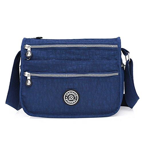 Foino borse a spalla moda borsa tracolla donna borse da viaggio leggero sacchetto sportiva impermeabile borsello laterale per tablet vintage messenger bag