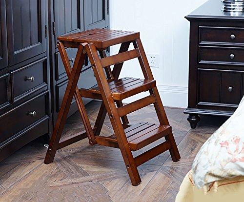 Sgabello step in legno massello sgabello pieghevole con 3 gradini