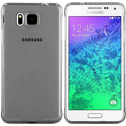 moodie Silikonhülle für Samsung Galaxy Alpha Hülle in Anthrazit-transparent (Rutschfest) - Case Schutzhülle Tasche für Samsung Galaxy Alpha