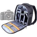 DURAGADGET Mochila Ajustable Con Compartimentos Para Cámara Canon EOS 5D Mark III / Mark II/ mk II + Funda Impermeable ¡Perfecta Para Fotografiar Bajo La Lluvia!