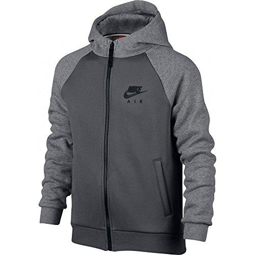 Nike B NSW HD FZ NIKE AIR HYBRID - Felpa, Grigio - M - Bambini