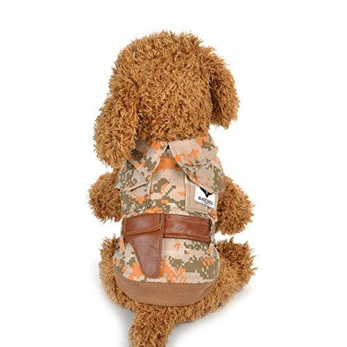 Pet Dog Puppy Warm Camouflage Print Kleidung Shirt Sleeveless Elegant Kostüm -