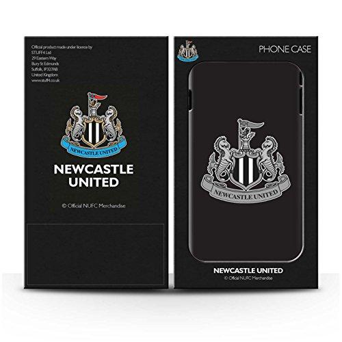 Officiel Newcastle United FC Coque / Etui pour Apple iPhone 5C / Mono/Blanc Design / NUFC Crête Football Collection Mono/Noir