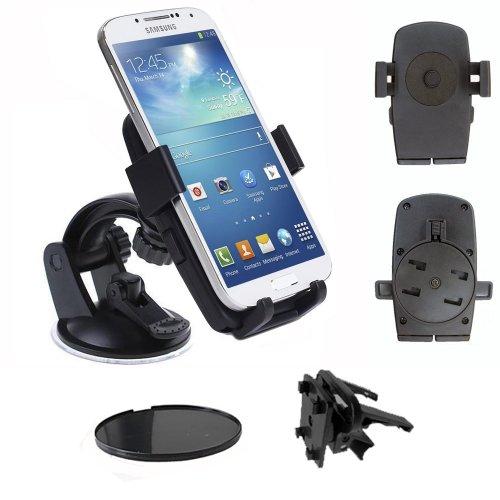 IBROZ–KFZ Easy Universal Saugnapf KFZ-Halterung für Windschutzscheibe, Lüftungsgitter oder Armaturenbrett Halterung für Smartphones iPhone 3, 4, 4S & 5, Samsung Galaxy S2& S3& S4/HTC/Sony Xperia/Nokia Lumia/LG... Handy Tmobile Galaxy S2