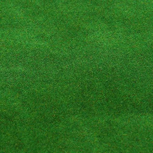 50x50cm 3 Farben Grass Mat Green Kunstrasen Teppiche für den BAU Modell Garden Moss Miniaturen Modellbau Boden Dekorieren, Dunkelgrün