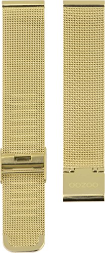 Oozoo Milanaiseband Uhrenband Armband Metallband Edelstahl Goldfarben 16 mm - OA-501-16