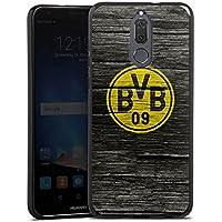 Huawei Mate 10 lite Silikon Hülle Case Schutzhülle Borussia Dortmund BVB Holzoptik