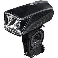 """Hama LED Fahrradlicht """"Profi"""" (Fahrradlampe zugelassen im Straßenverkehr nach StVZO, Frontlicht inkl. Batterie und Halterung, abnehmbar) schwarz"""