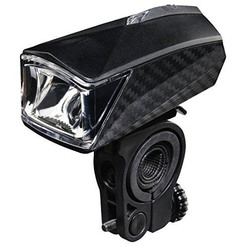 Hama LED Fahrradlicht Profi (Fahrradlampe Zugelassen im Straßenverkehr Nach StVZO, Frontlicht inkl. Batterie und Halterung, Abnehmbar) Schwarz (Beleuchtung Slide)
