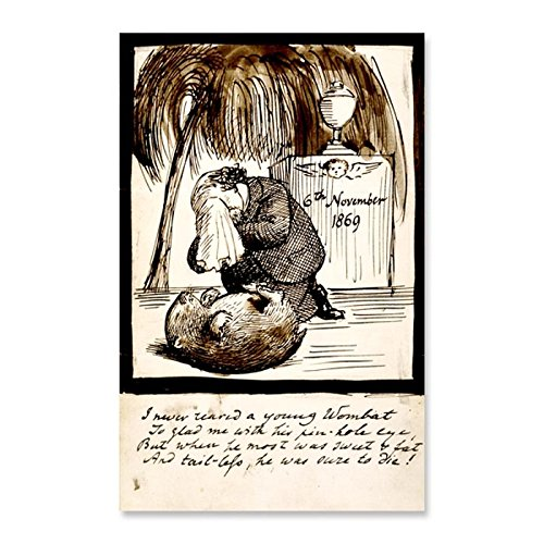 Das Museum Steckdose Rossetti Lamenting His Death of the Wombat, 1869-Poster (Medium)