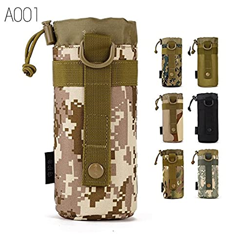FLYHAWK Tactical Molle Water Bottle Holder Belt Bottle Carrier,Kettle Bag pouch (DesertDigital)