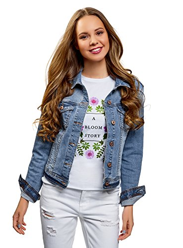 oodji Ultra Women's Basic Denim Jacket