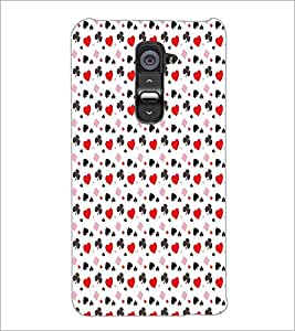 PrintDhaba Pattern D-5911 Back Case Cover for LG G2 (Multi-Coloured)